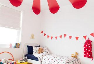 Photo of اللون الأحمر يضفي البهجة والمرح على غرفة طفلك