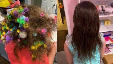 Photo of أمريكية أمضت 20 ساعة في تخليص شعر ابنتها من 150 قطعة ألعاب